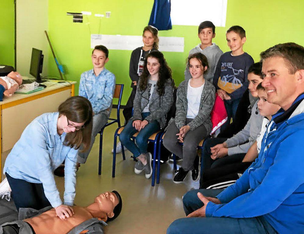 Les délégués de classe apprennent les gestes qui sauvent !